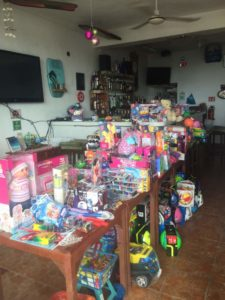 It takes lots of gifts for the growing community of Akumal-please drop one or two by.